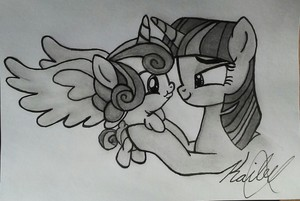 Twilight Sparkle and Flurry cuore