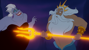 Walt 迪士尼 Screencaps – Ursula & King Triton