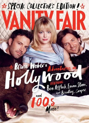 Ben Affleck, Emma Stone and Bradley Coooper - Vanity Fair Cover - 2013