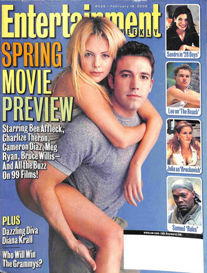 Ben Affleck and Charlize Theron - Entertainment Weekly Cover - 2000
