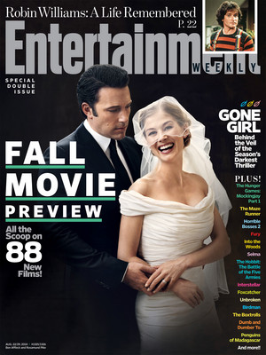 Ben Affleck and Rosamund Pike of Gone Girl - Entertainment Weekly Cover - 2014