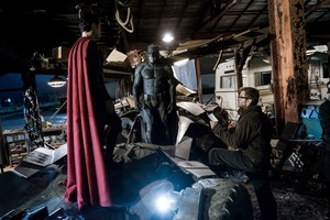 Ben Affleck behind the scenes of バットマン v. Superman: Dawn of Justice