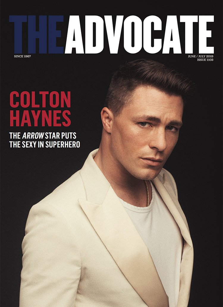 Colton Haynes - The Advocate Cover - 2019