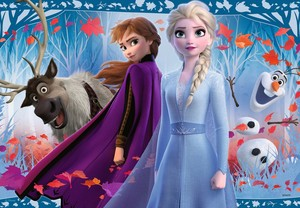 Elsa and Anna with Olaf and Sven