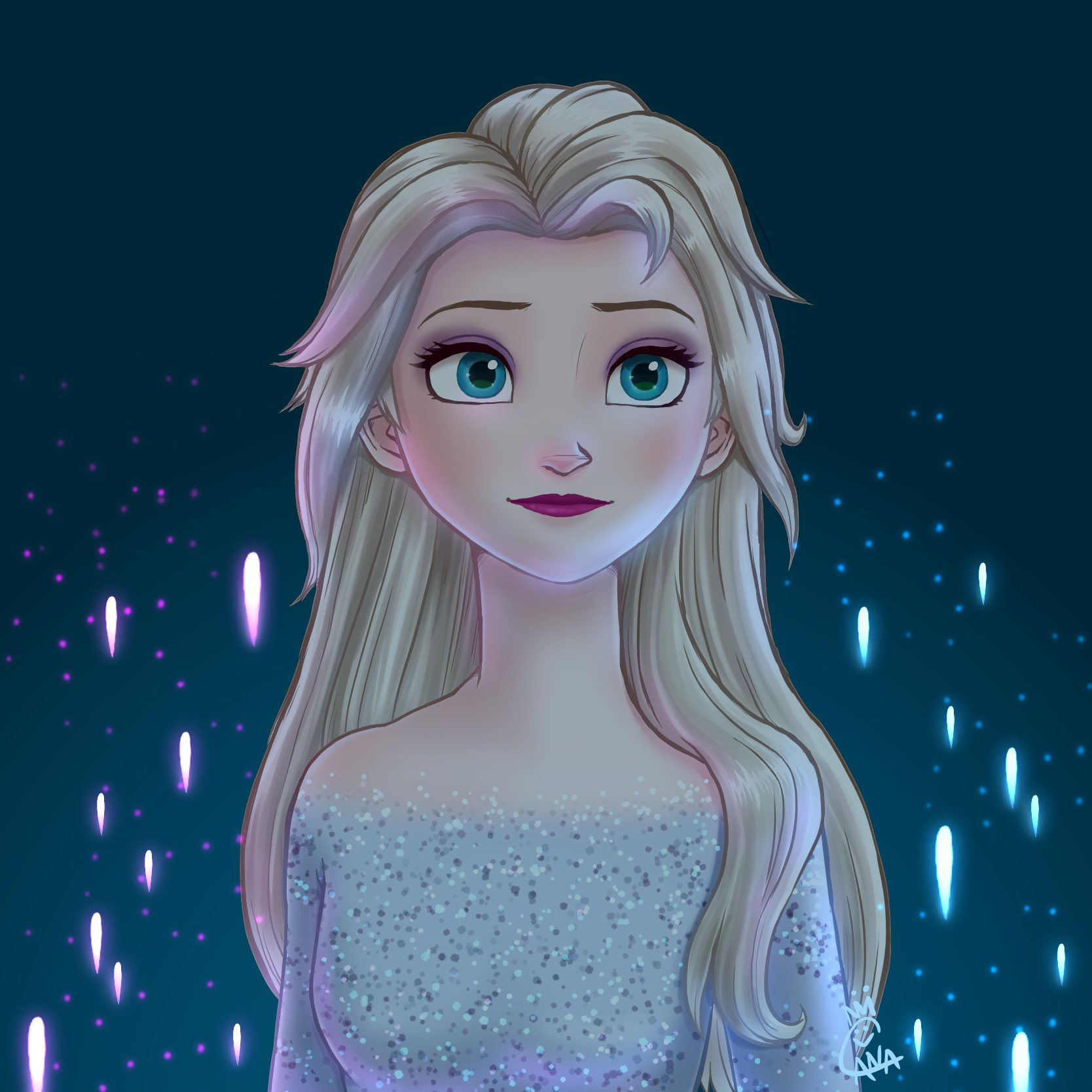 Elsa - Frozen 2 Fan Art (43058129) - Fanpop