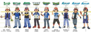 Evolution of Ash Ketchum