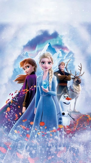 La Reine des Neiges 2 Textless Poster