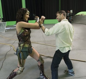 Justice League (2017) Behind the Scenes - Gal Gadot and Zack Snyder