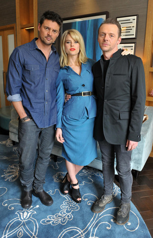 Karl Urban, Alice Eve and Simon Pegg - bintang Trek: Into Darkness Photocall - 2013