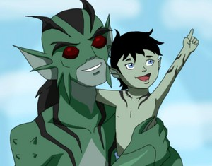 Lagoon Boy and his son Gil'gaan