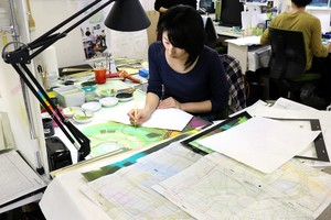 Studio Ponoc Background artists hard at work on Mary and the Witch's maua, ua