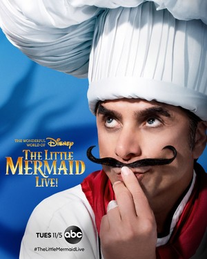 The Little Mermaid Live! (2019) Character Poster - John Stamos as Chef Louis