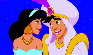Walt Disney Screencaps – Princess gelsomino & Prince Aladdin