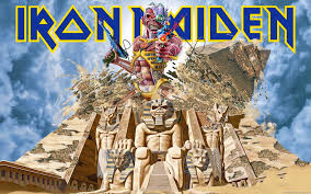 iron maiden powerslave computer background