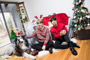 Bangtan Boys Christmas photoshoot par Naver x Dispatch