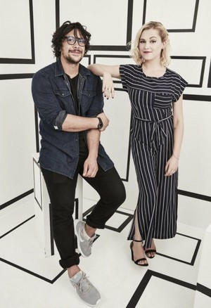 Bob Morley and Eliza Taylor