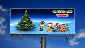 Christmas Toons on the Billboard