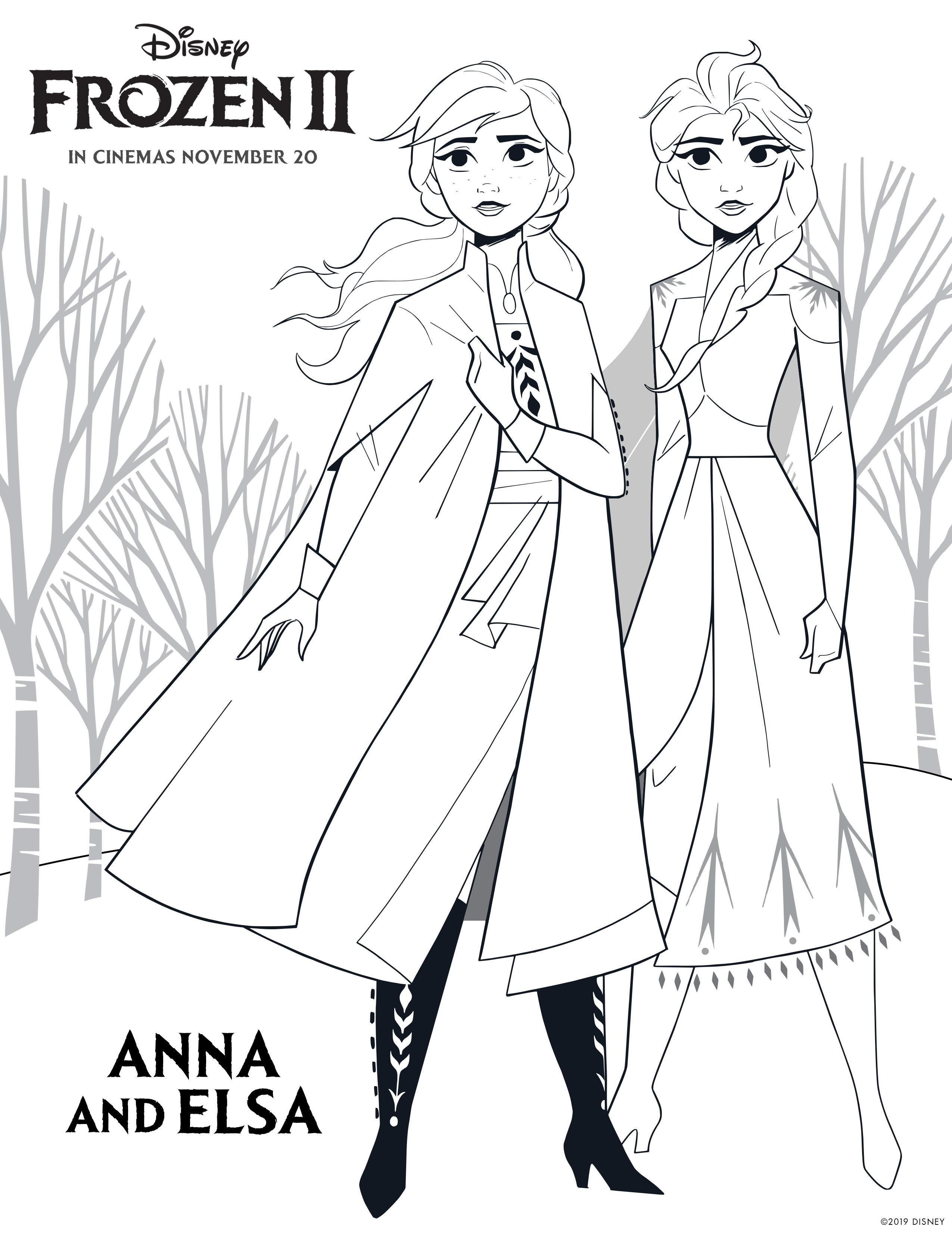 Frozen 2 Coloring Page - Princess Anna Photo (43121491 ...