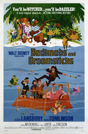 Movie Poster 1971 Disney , Beknobs And Broomsticks