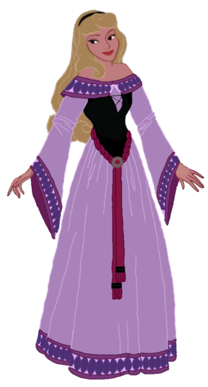 My redesign of Aurora's peasant dress