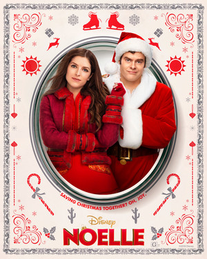 Noelle (2019) Character Poster - Anna Kendrick as Noelle Kringle and Bill Hader as Nick Kringle