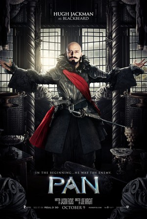 Pan (2015) Character Poster - Hugh Jackman as Blackbeard