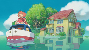 Ponyo on the Cliff によって the Sea 壁紙