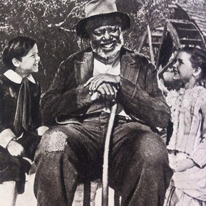 Song of the South (1946) Cast Portrait - Bobby Driscoll, James Baskett and Luana Patten