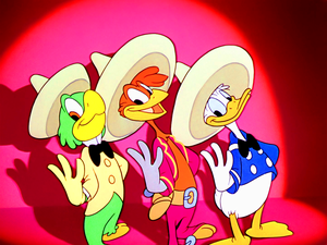 Walt डिज़्नी Screencaps – José Carioca, Panchito Pistoles & Donald बत्तख, बतख