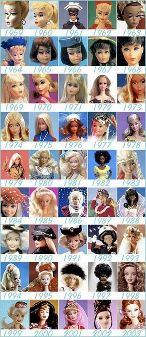 Barbie Throughout The Decades