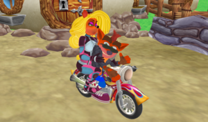 Biker Crash and Motorsport Tawna Bandicoot Love
