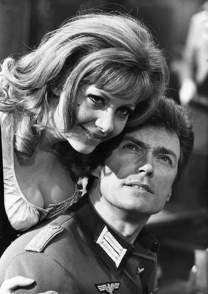 Clint Eastwood and Ingrid Pitt (Where Eagles Dare) 1968