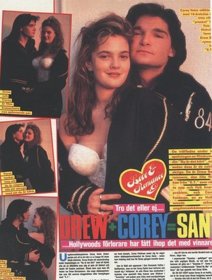 Corey Feldman and Drew Barrymore