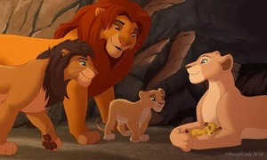Happy family lion king