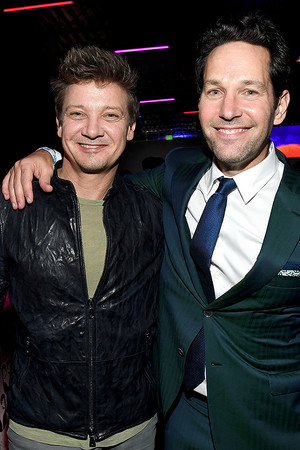 Jeremy Renner and Paul Rudd attend AT-T TV Super Saturday Night on February 01, 2020 in Miami