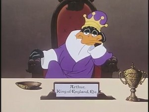 King Daffy pato - Bugs Bunny in King Arthur's Court