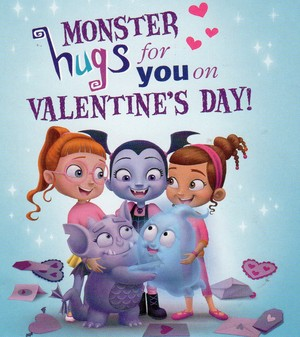Monster hugs for you on Valentine's Day!