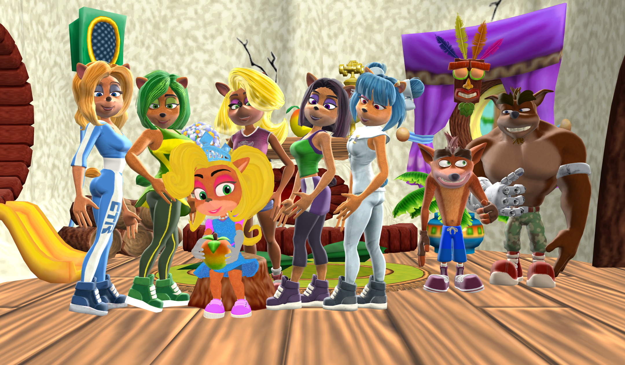 Princess Coco Bandicoot and Trophy Girls