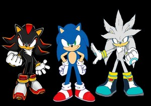 Sonic, Shadow and Silver the Three Hedgehogs