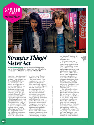 Stranger Things in Entertainment Weekly - 2017