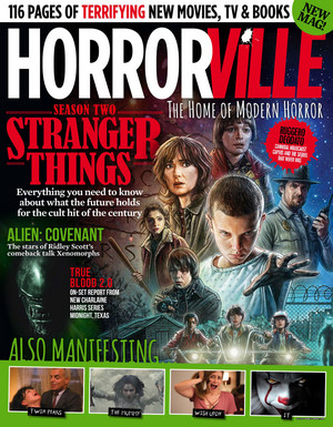 Stranger Things on the cover of Horrorville Magazine - 2017