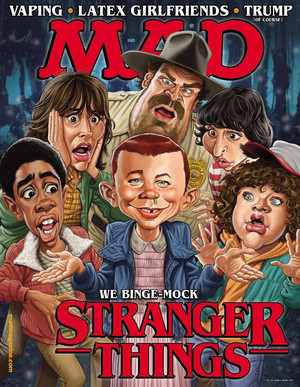 Stranger Things on the cover of Mad Magazine - 2017