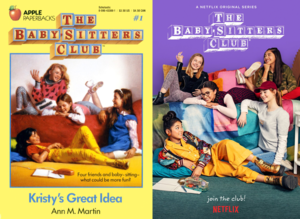 The Baby-Sitters Club - Book Cover vs. Netflix Poster