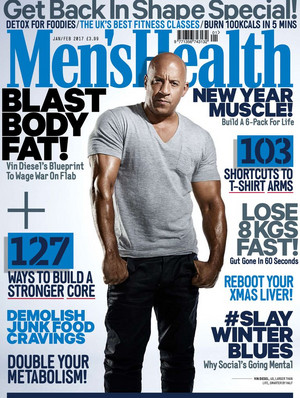 Vin Diesel - Men's Health Cover - 2017