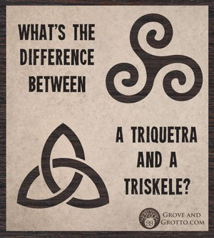 What's the difference between a triquetra and a triskele?
