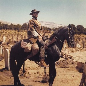 Clint on the set of The Good, the Bad and the Ugly