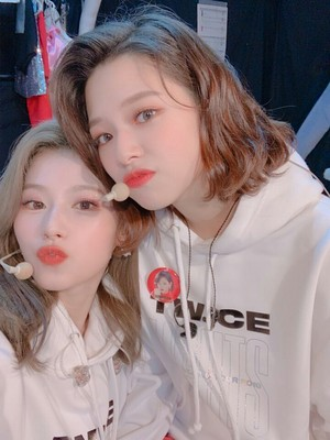 Jeongyeon and Sana