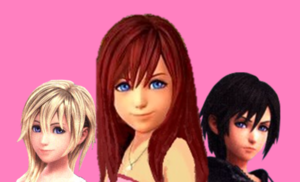 Kairi, Namine and Xion.