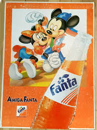 Mickey And Minnie Promo Ad For Fanta