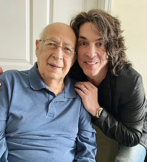 Paul Stanley and his dad - who turns 100 today -April 7th